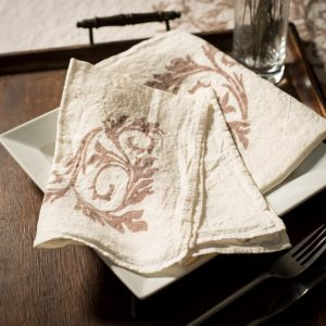 Italian linen napkin by stamperia bertozzi, allorashop