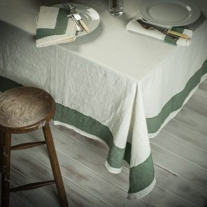Hand-painted Italian tablecloth plum
