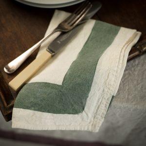 handpainted linen napkins bertozzi
