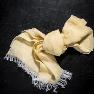 Italian artisan gauze linen scarf by Tessitura Pardi, allorashop