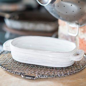 Handmade italian ceramic baking dish