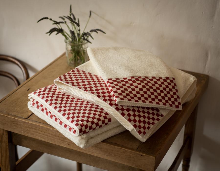 natural cotton bath towels Stamperia bertozzi, allorashop
