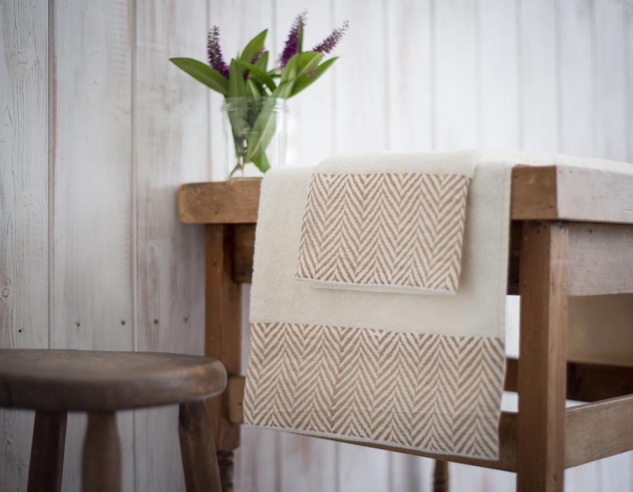 Hand printed bah towel
