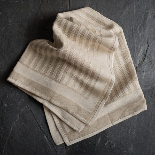 Italian hand-stitched artisan kitchen towel