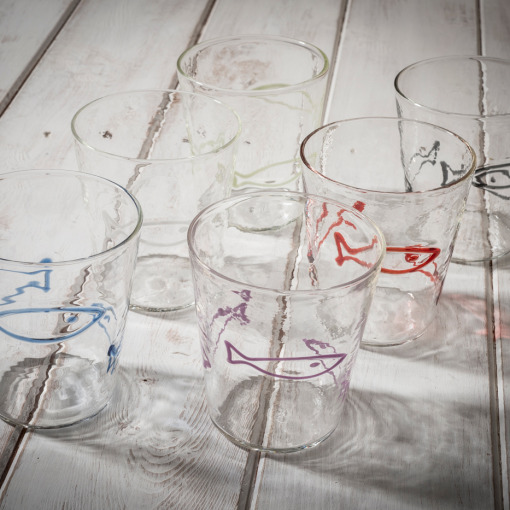 Italian designer handblown glassware - allorashop