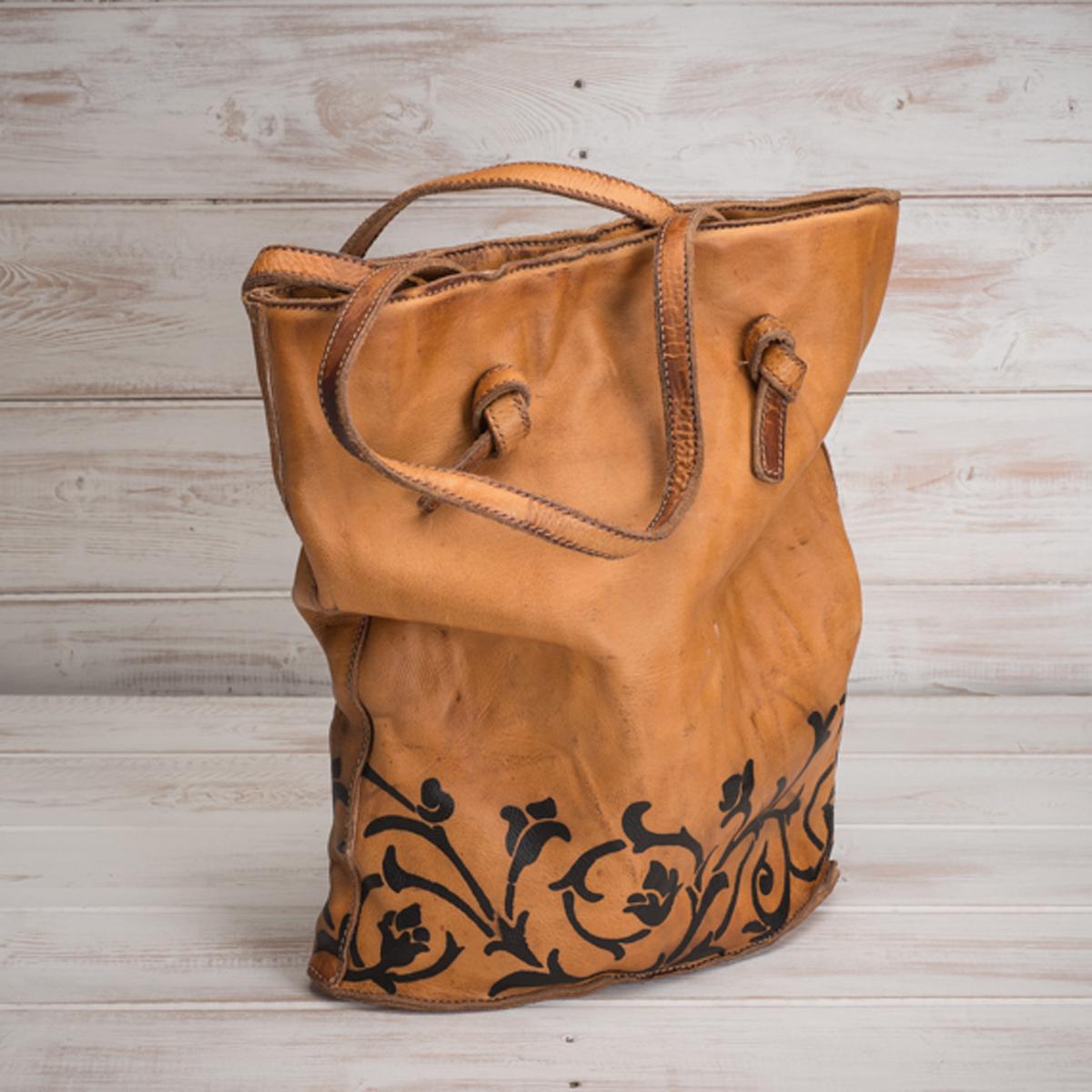 Italian artisan handmade leather bag