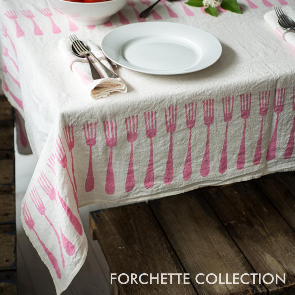 pink linen tablecloth bartozzi
