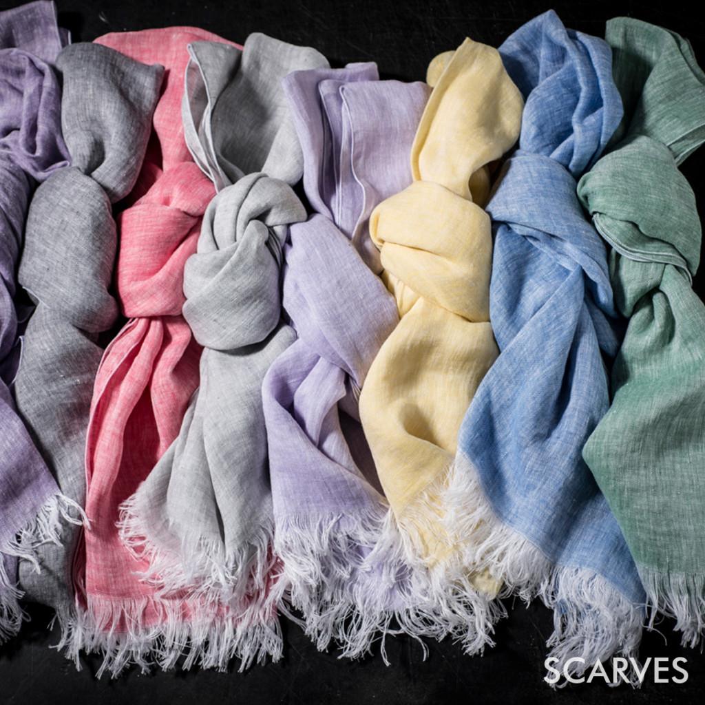 Italian fine linen scarves