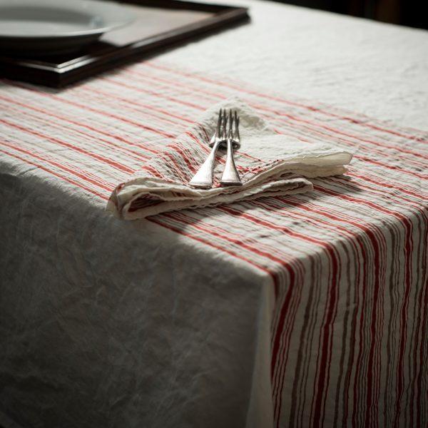 Italian artisan linen tablecloth