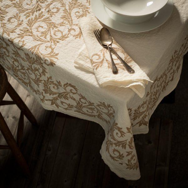 hand printed italian artisan linen napkin