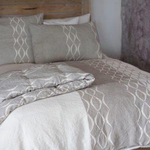 allorashop hand painted linen duvet cover by Bertozzi