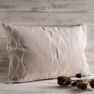 allorashop hand printed linen pillow case