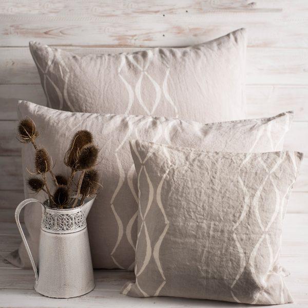 allorashop hand printed linen pillow case
