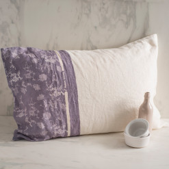 allorashop hand painted linen pillow case by Bertozzi