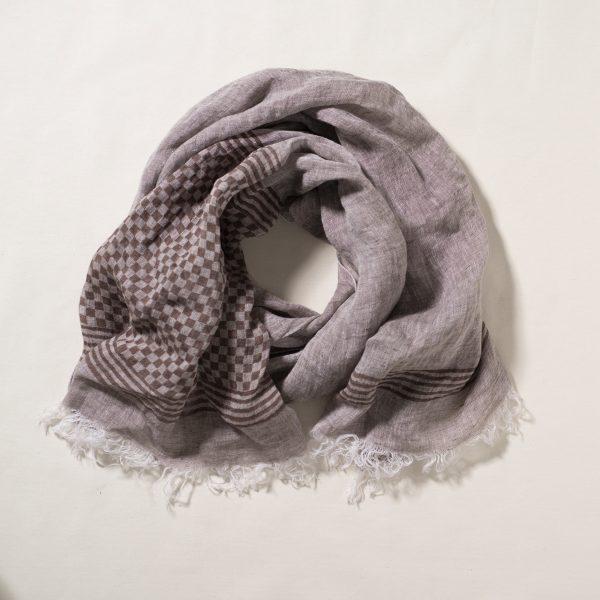allorashop Italian artisan hand-printed scarf