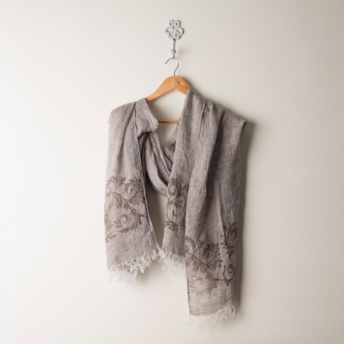 italian artisan printed scarf acanto allora