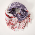 allorashop Hand-painted and hand-printed scarf