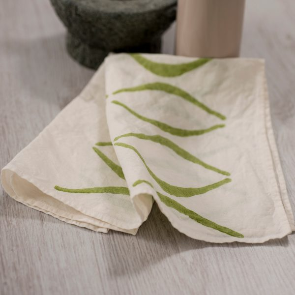allorashop artisan linen napkins by Bertozzi