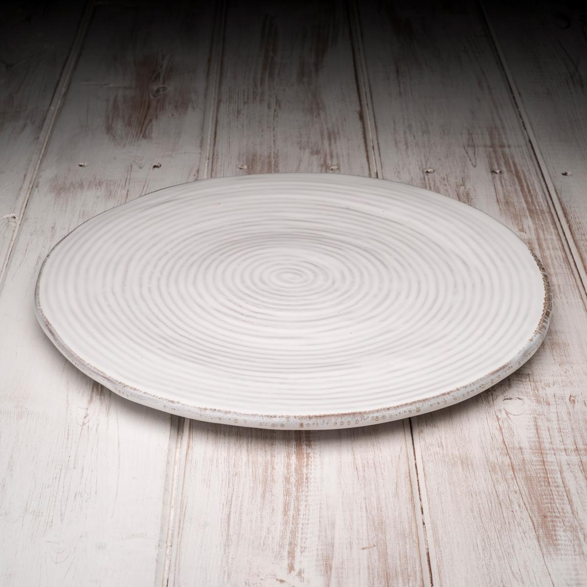 Handmade Italian Ceramic Plate White