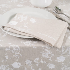 allorashop hand-printed linen napkins