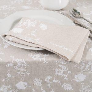 allorashop hand-printed linen napkins