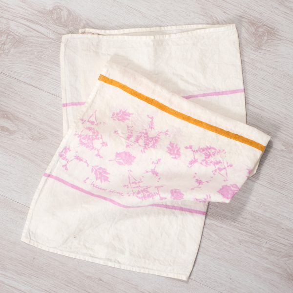 allorashop Hand-painted artisan tea towel
