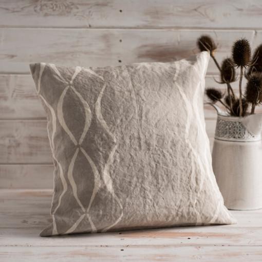 allorashop hand painted linen cushion cover by Bertozzi
