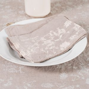 allorashop Hand-Painted Linen Napkins