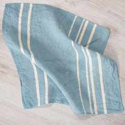 allorashop artisan blue linen napkins by Bertozzi