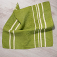 allorashop artisan green linen napkins by Bertozzi