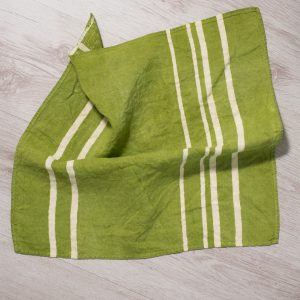 allorashop artisan green linen napkins by Bertozzi