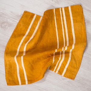 allorashop artisan orange linen napkins by Bertozzi