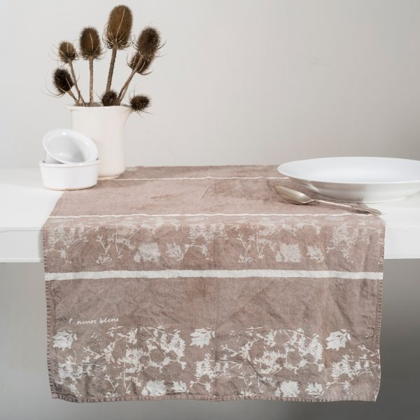 Allorashop Fine Hand-Painted Italian Linen Table Runner