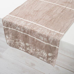 Allorashop Fine Hand-Painted Italian Linen Table Runner