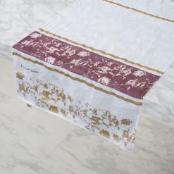 allorashop Hand-Printed Fine linen table Runner
