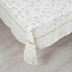 allorashop Hand-Printed Italian Linen Tablecloth