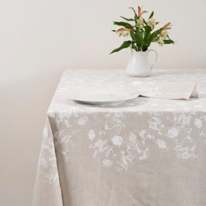 allorashop hand-printed Italian tablecloth