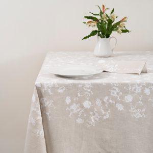 allorashop hand-printed Italian tablecloth