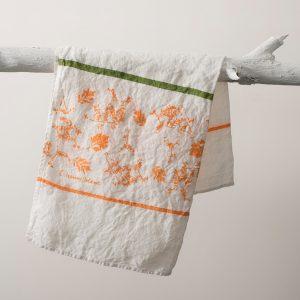 artisan tea towel orange