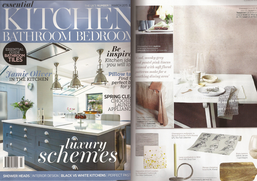 Allorashop as seen in magazine ekbb for Essential kitchens and bathrooms