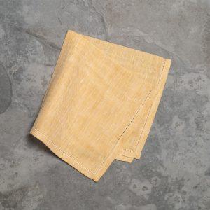 pardi yellow linen napkins