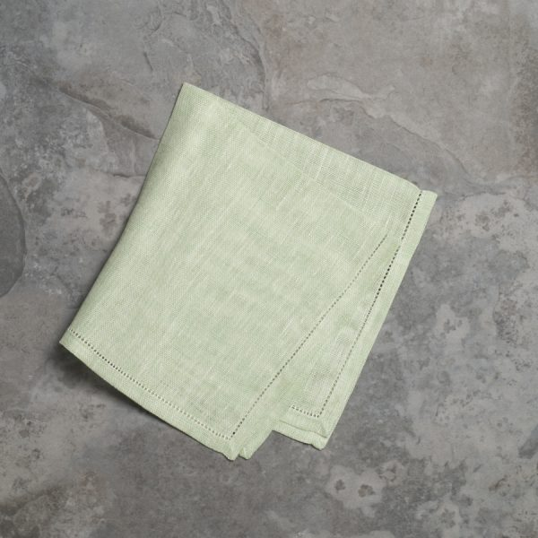 pardi green linen napkins