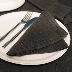italian charcoal linen napkins