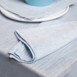 pardi blue linen napkins