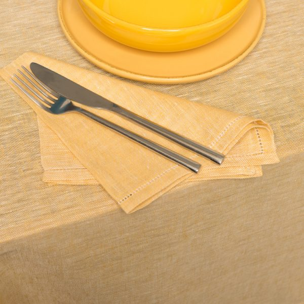 pardi yellow linen napkins
