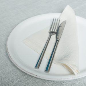 Italian ivory linen napkins