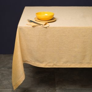 Pardi yellow linen tablecloth