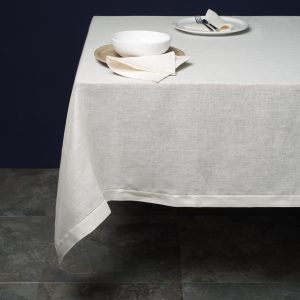 italian ivory linen tablecloth