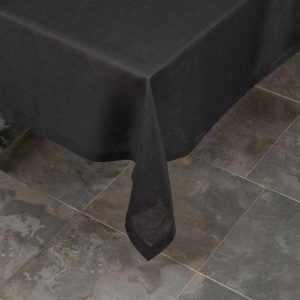 italian charcoal linen tablecloth