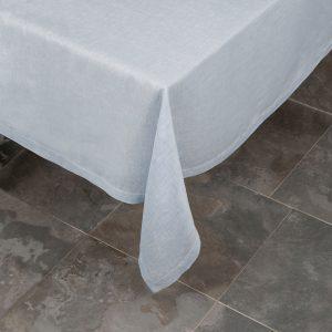 Italian Pardi blue linen tablecloth